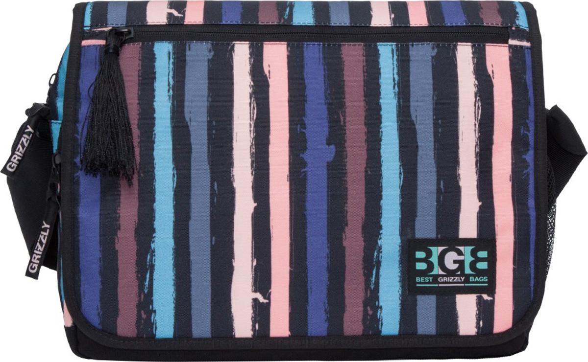 Сумка на плечо Grizzly, цвет: разноцветный. MD-855-6/4 стоимость