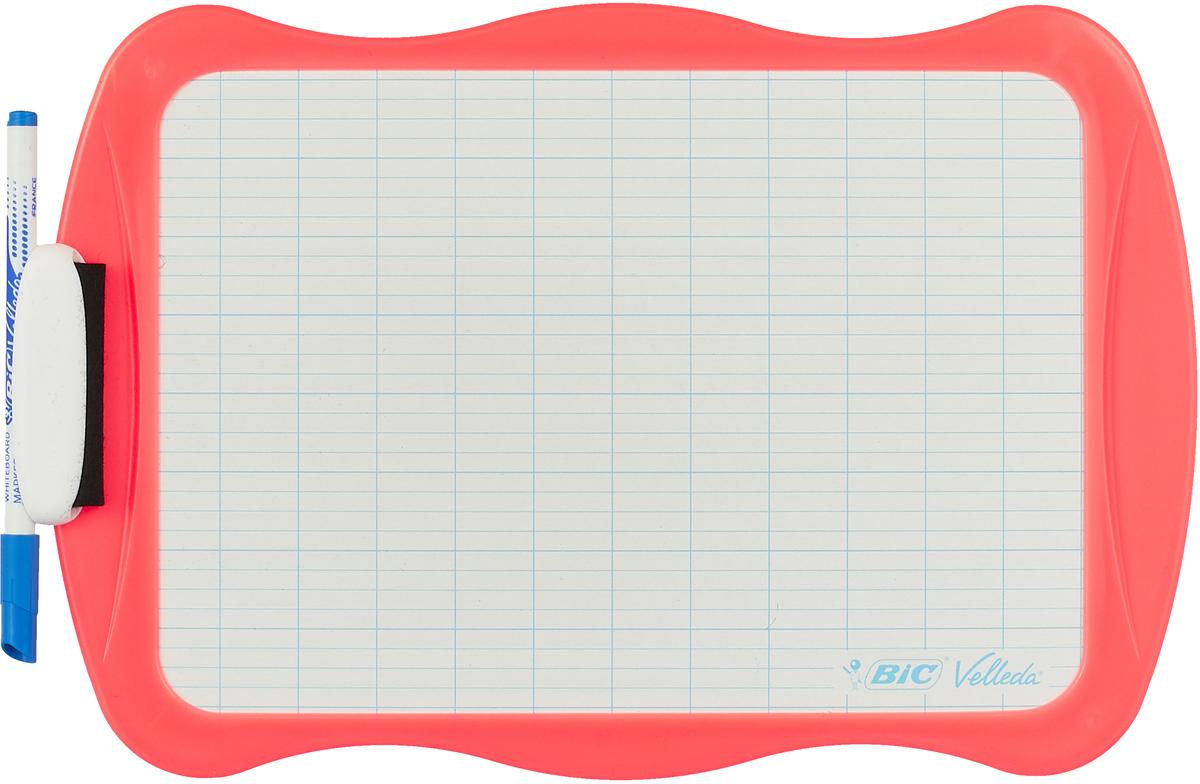 Bic Доска для рисования Velleda цвет коралловый bic доска для рисования velleda цвет синий