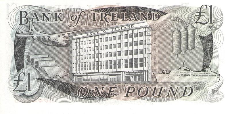 Банкнота номиналом 1 фунт. Ирландия. 1980 год