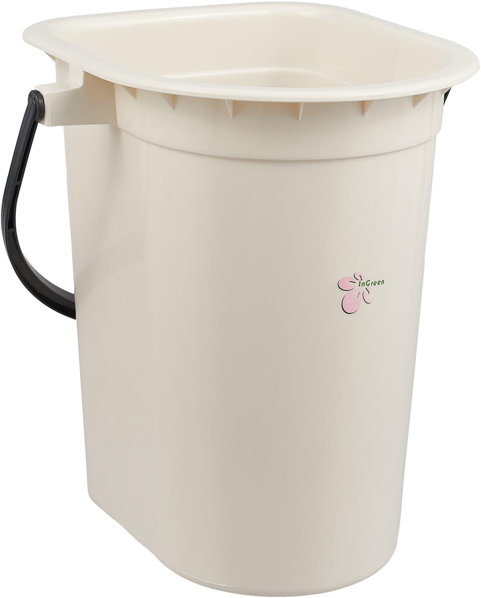 Ведро-туалет InGreen, цвет: бежевый, коричневый, 18 л. ING40000БЖ_вид 2