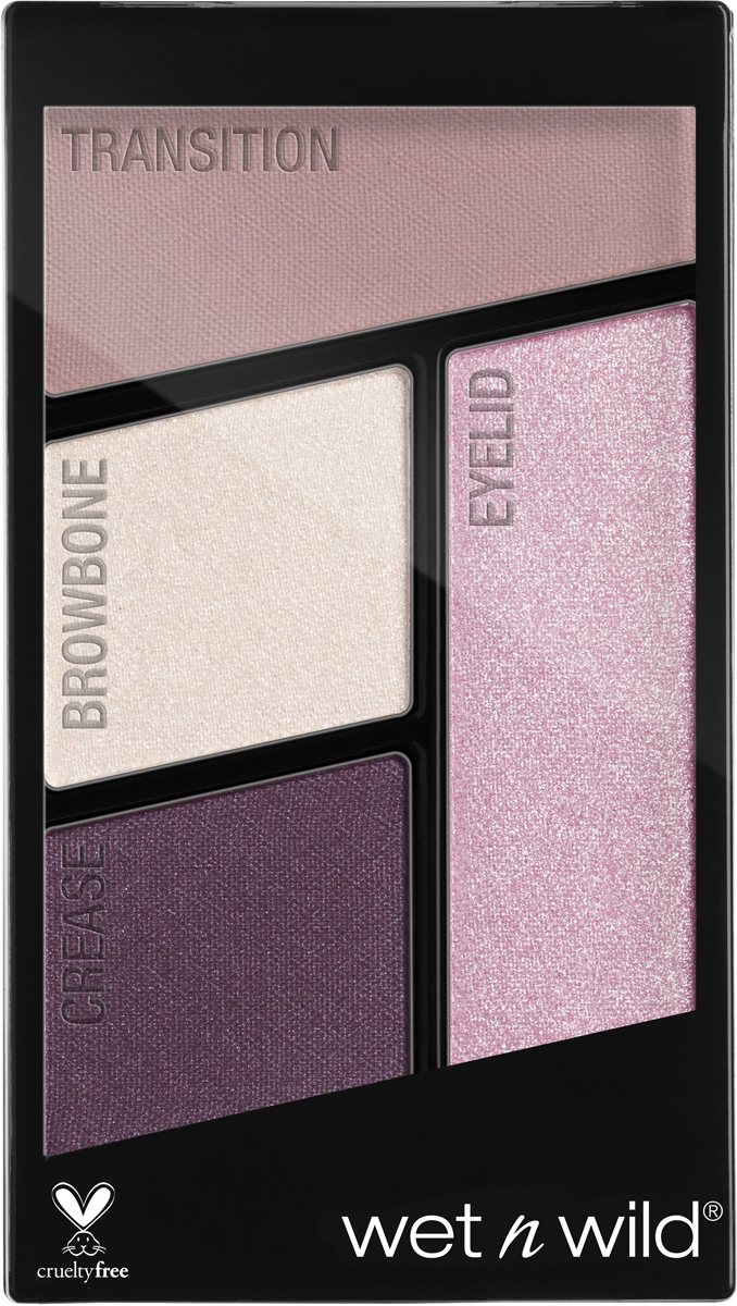 Wet n Wild Палетка теней для век Color Icon Eyeshadow Quad (4 Оттенка), тон Petalette, E344b