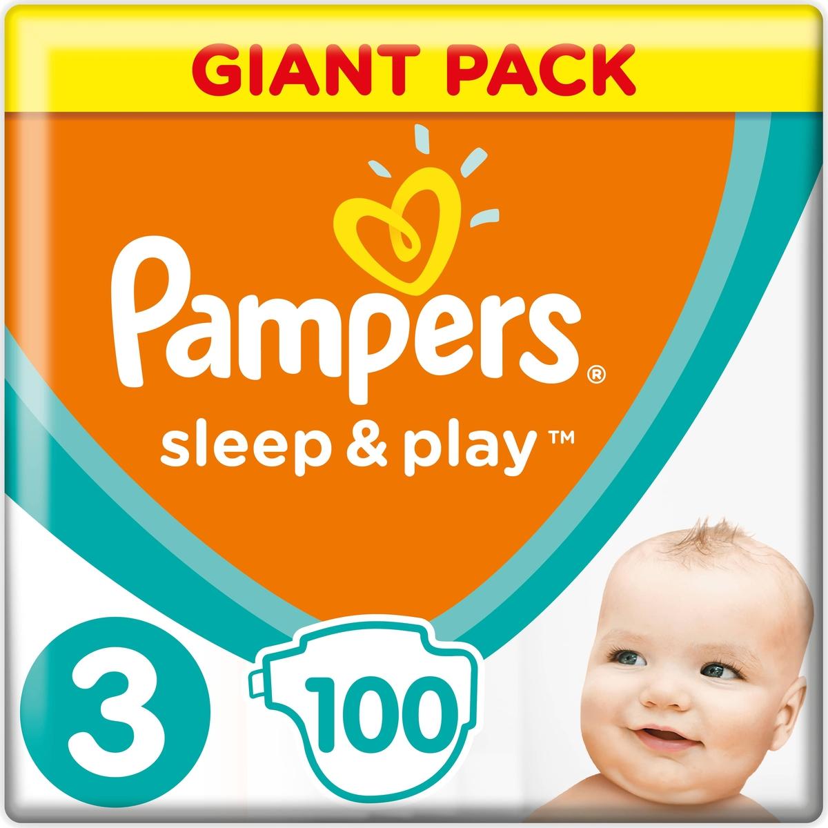 Pampers Подгузники Sleep & Play 6-10 кг (размер 3) 100 шт недорого