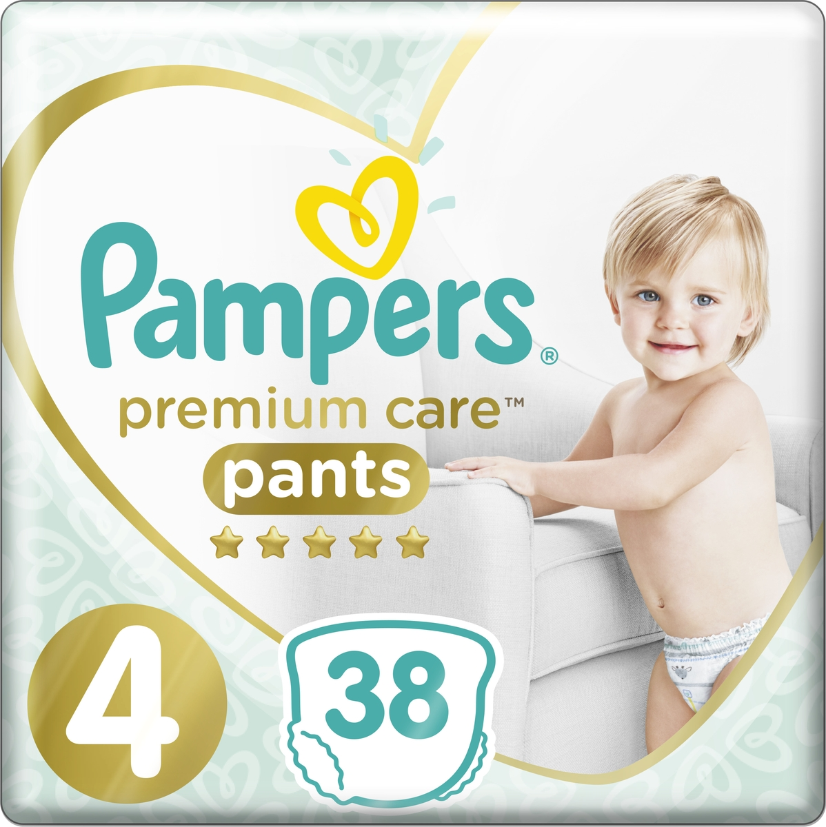 Pampers Подгузники-трусики Premium Care 9-15 кг (размер 4) 38 шт pampers 800 number
