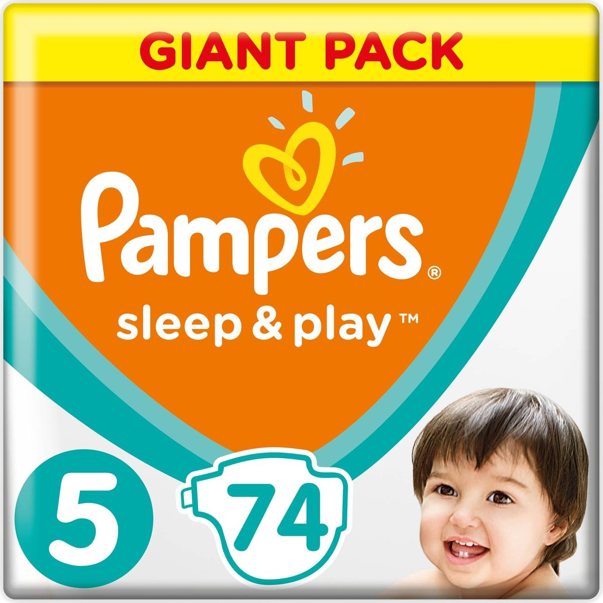 Pampers Подгузники Sleep & Play 11-16 кг (размер 5) 74 шт