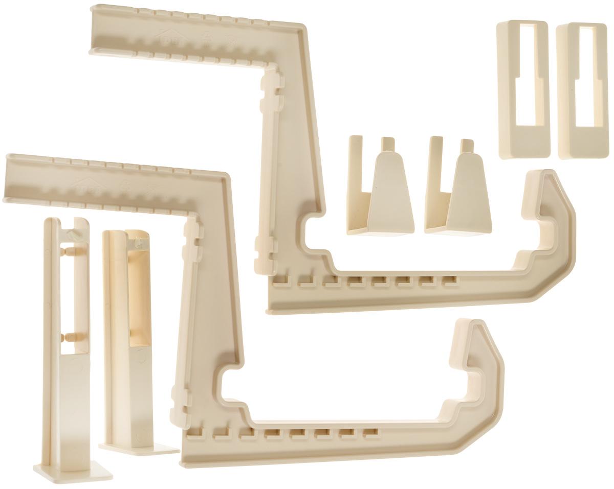 Крепление для балконных ящиков Idea, универсальное, цвет: белая глина, 2 шт поддон для балконного ящика idea цвет терракотовый 40 см
