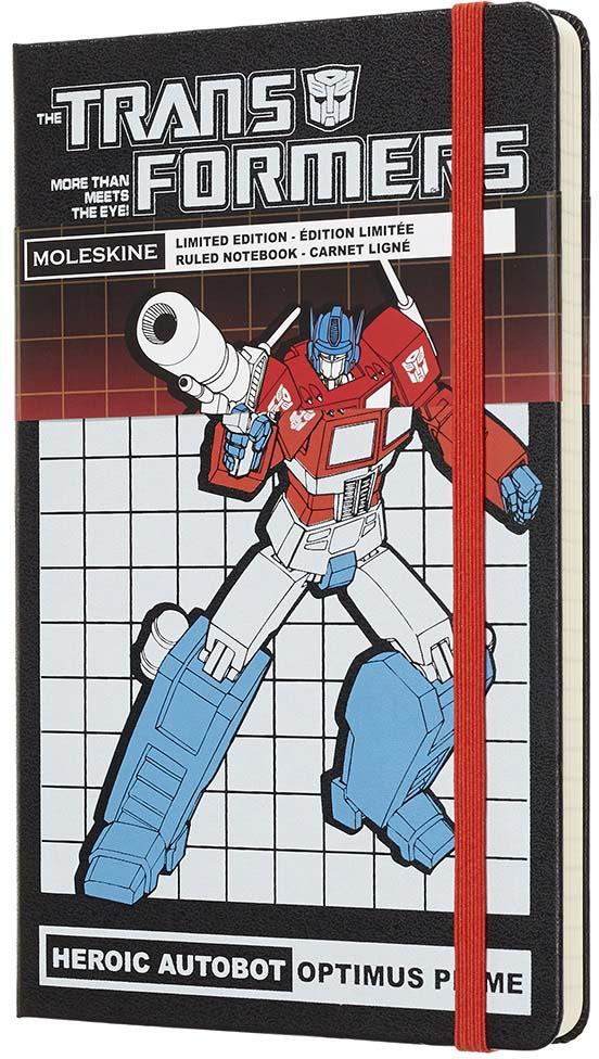 Moleskine Блокнот Transformers Large Limited Edition Optimus Prime 240 листов в линейку