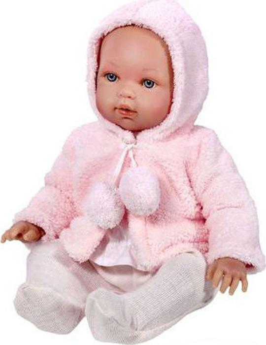 Vestida de Azul Кукла Марина в розовой шубке озвученная