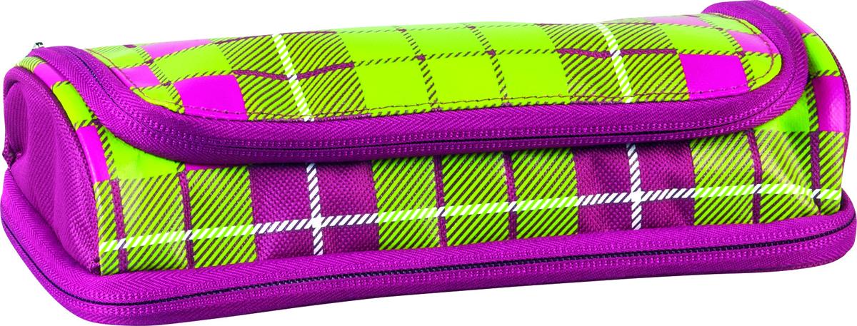 Пенал Brunnen Case Duo, 2 отделения, цвет: зеленый, розовый. 49036-01