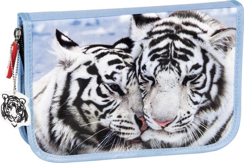 Пенал Brunnen Fans of Earth-Tiger, 1 отделение, цвет: голубой. 49120-441