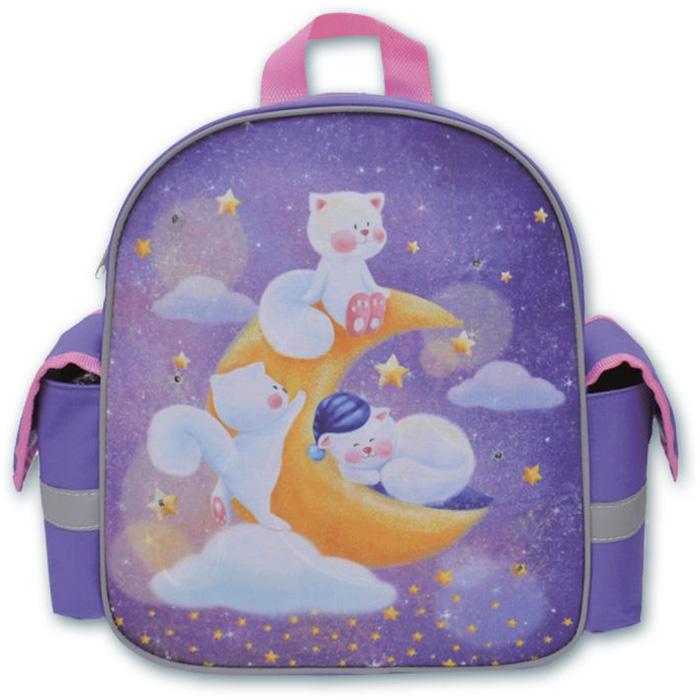 Феникс+ Рюкзак детский Кошечки в облаках цвет фиолетовый