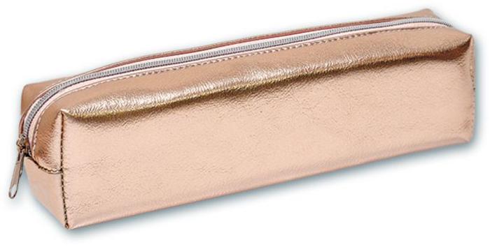 Пенал Феникс+, 1 отделение, цвет: розово-серебряный. 46584