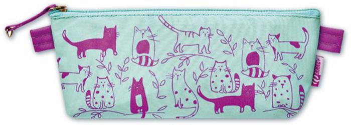 """Пенал Феникс+ """"Коты"""", 1 отделение, цвет: голубой, розовый. 46254"""
