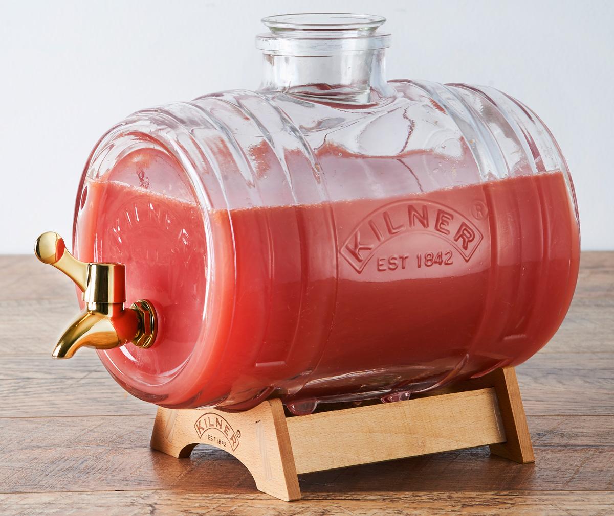 """Диспенсер для напитков Kilner """"Barrel"""", на подставке, 1 л"""