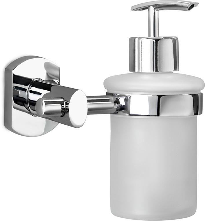 """Дозатор Verran """"Bizarre"""", настенный, для жидкого мыла, цвет: серебристый. 255-17"""