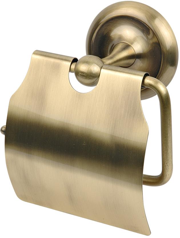 """Держатель для туалетной бумаги Verran """"Antico"""", закрытый, цвет: бронза. 259-15"""