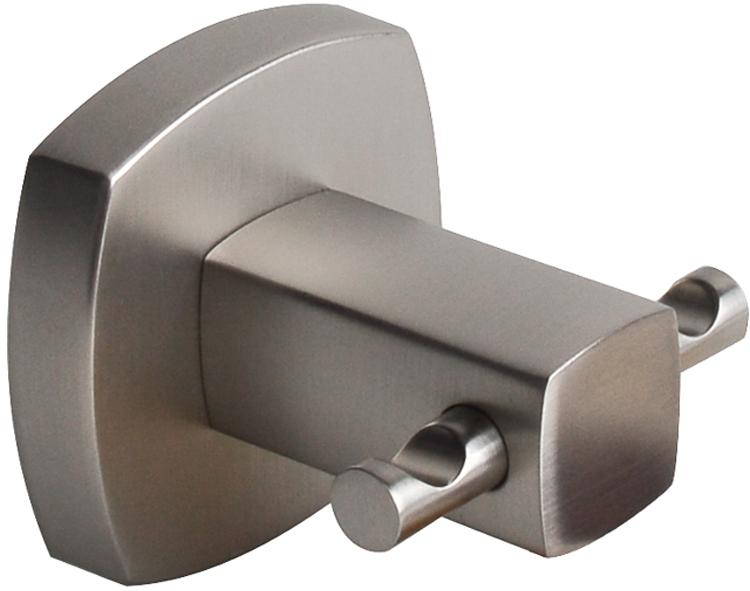 Крючок Wess Istad, двойной, цвет: серебристый. W08-10 розетка abb bjb basic 55 шато 2 разъема с заземлением моноблок цвет чёрный