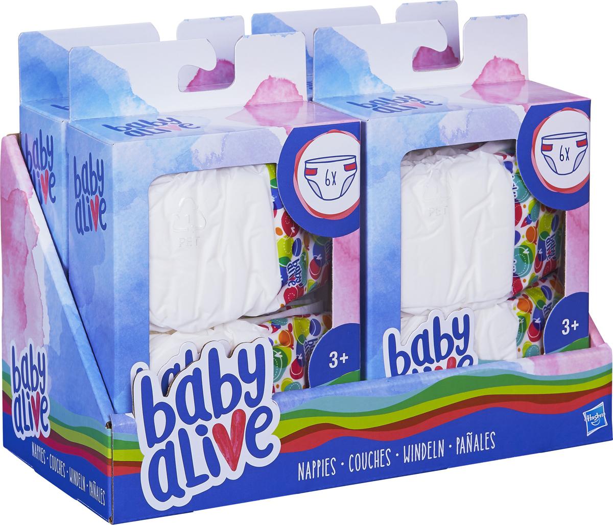 Подгузники для кукол Baby Alive, 6 шт памперсы картинки