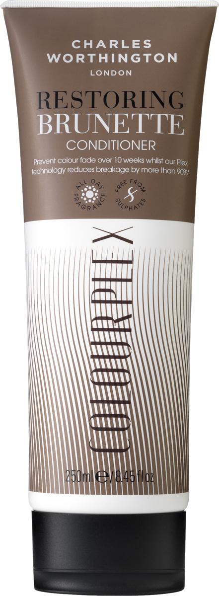 Charles Worthington Кондиционер для темных волос 2 в 1: уход за цветом и восстановление волос100102749Этот увлажняющий кондиционер с технологией ColorLock препятствует вымыванию и потускнению цвета и продлевает его яркость до 10 недель. Благодаря экстракту какао, входящему в состав шампуня, цвет остается ярким и сияющим, а уникальная Plex технология сокращает ломкость волос на 90% и придает им жизненную силу. Эффект: 2 в 1: уход за цветом и восстановление волос Благодаря специальной технологии FragranceLock ™, кондиционер придает волосам стойкий приятный аромат, которым Вы будете наслаждаться в течение всего дня.
