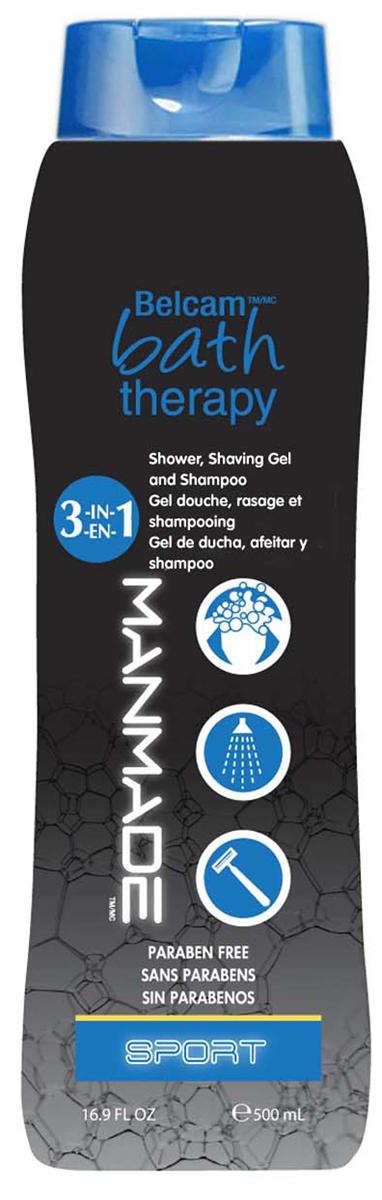 Bath Therapy 3 в 1 Гель для душа, пена для бритья и шампунь Спорт гель для бритья в самолет