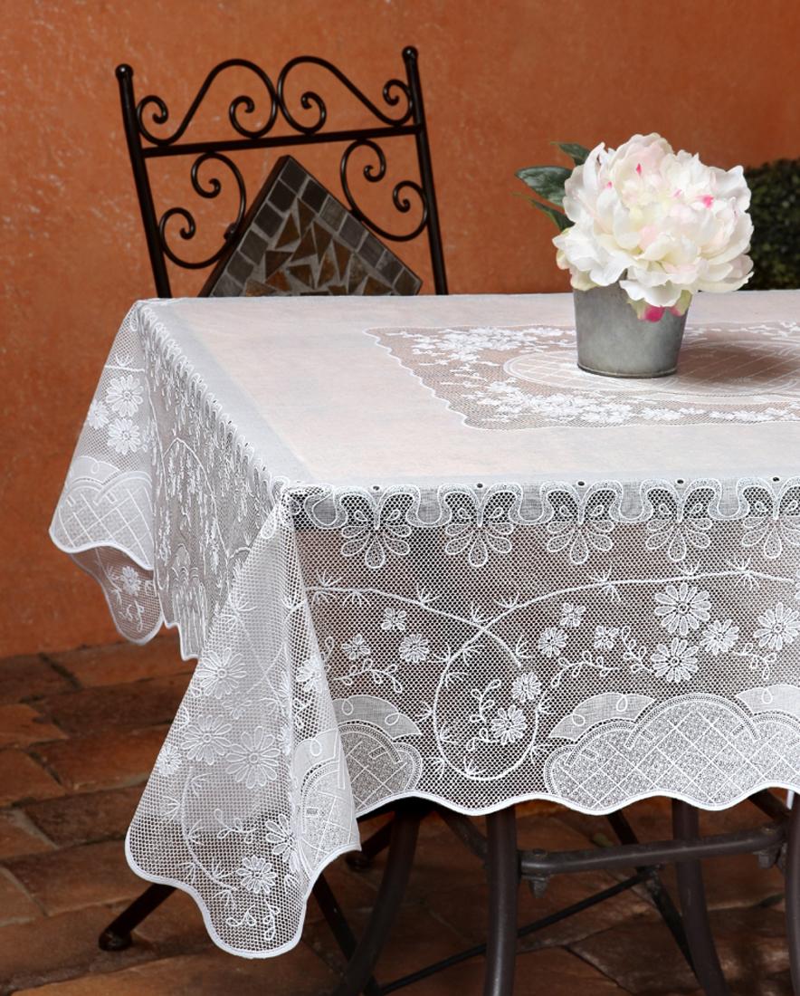 Скатерть Niklen, цвет: белый, 110 х 140 см скатерть квадратная 137х137 niklen