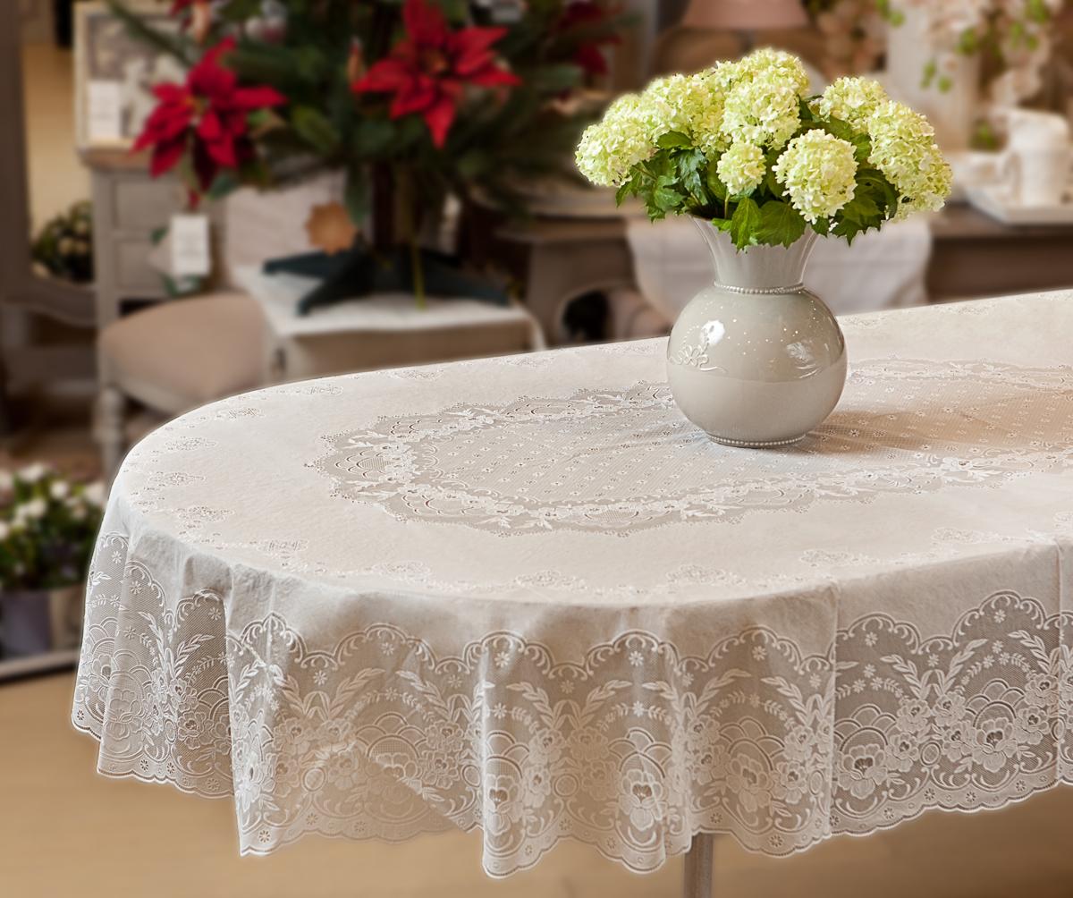 скатерти на овальный стол фото