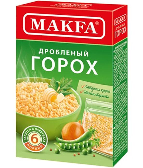 Makfa горох дробленый в пакетах для варки, 5 шт по 80 г увелка рис круглозерный в пакетах для варки 5 шт 80 г
