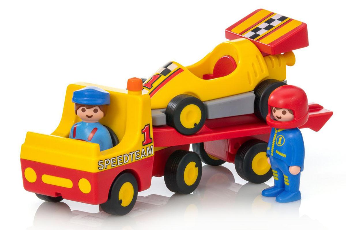 Playmobil Игровой набор Эвакуатор с гоночным автомобилем