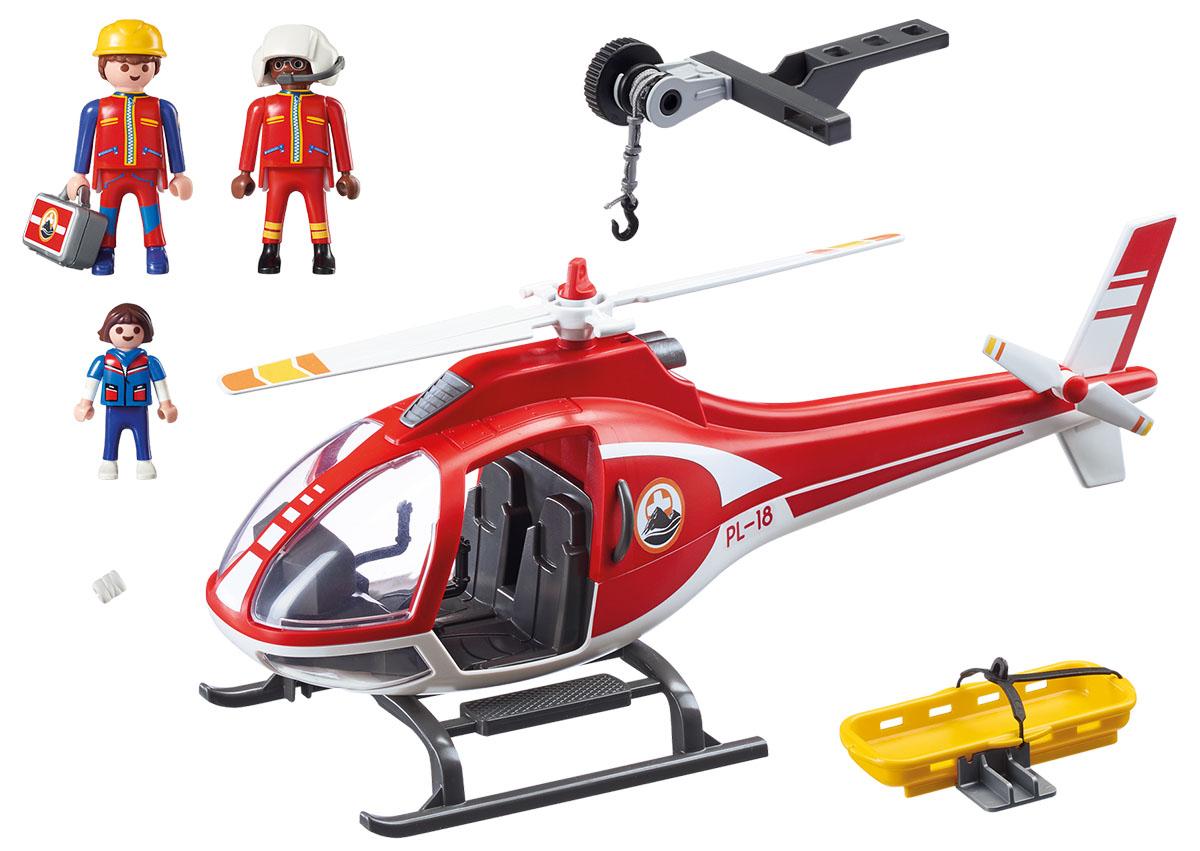 Playmobil Игровой набор Горноспасательная Вертолет горноспасателей