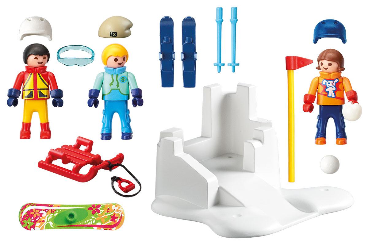 Playmobil Игровой набор Зимние виды спорта Снежки