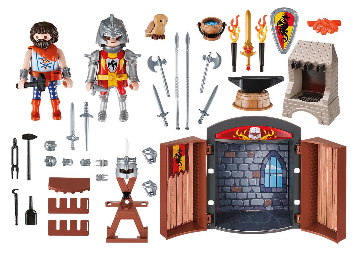 Playmobil Игровой набор Игровой бокс Рыцари с оружием