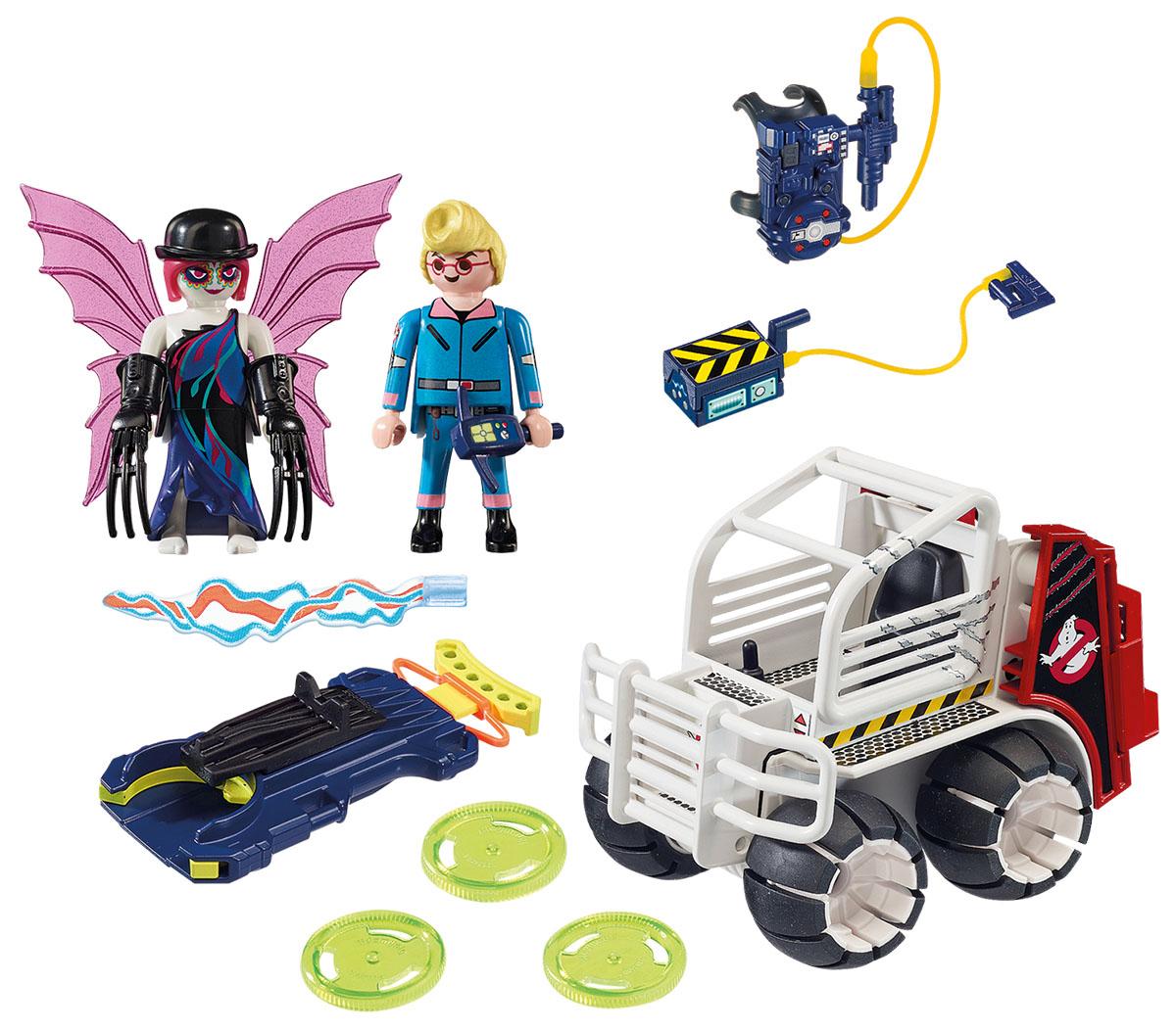 Playmobil Игровой набор Охотники за привидениями Спенглер с клеткой-автомобилем