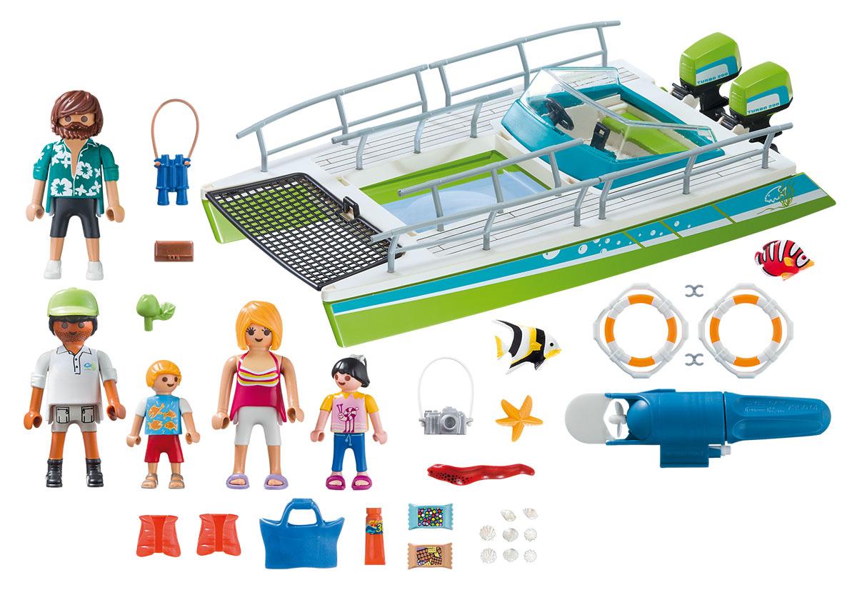Playmobil Игровой набор Лодка со стеклянным дном с подводным двигателем