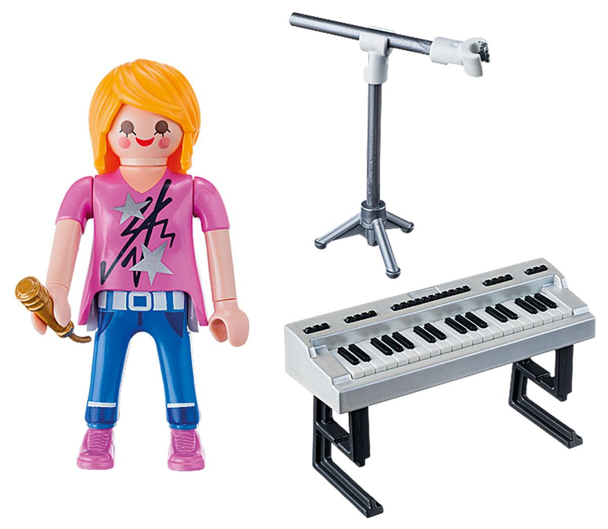 Playmobil Игровой набор Экстра-набор Певица с синтезатором