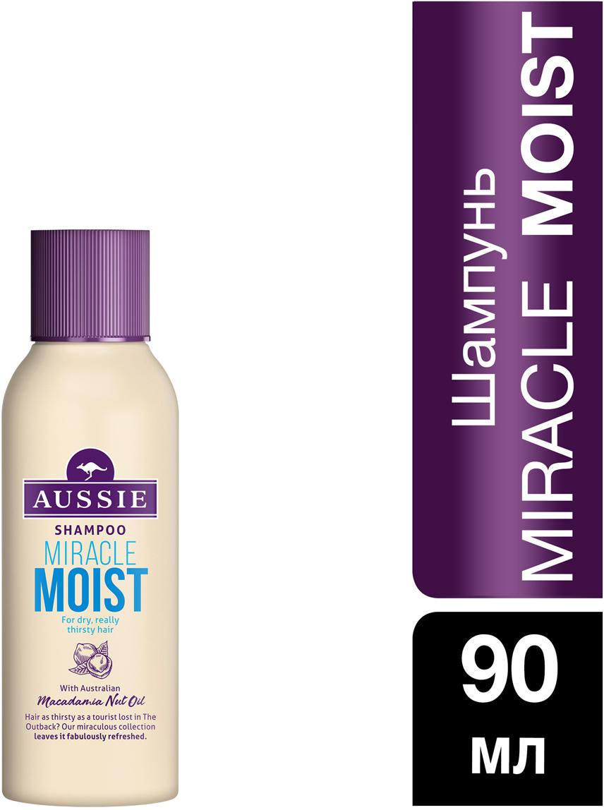 Aussie Шампунь Miracle Moist 90 мл шампунь aussie repair miracle д поврежд волос 300мл жен