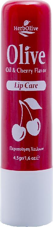 HerbOlive Гигиеническая губная помада вишня 4,5 г недорго, оригинальная цена