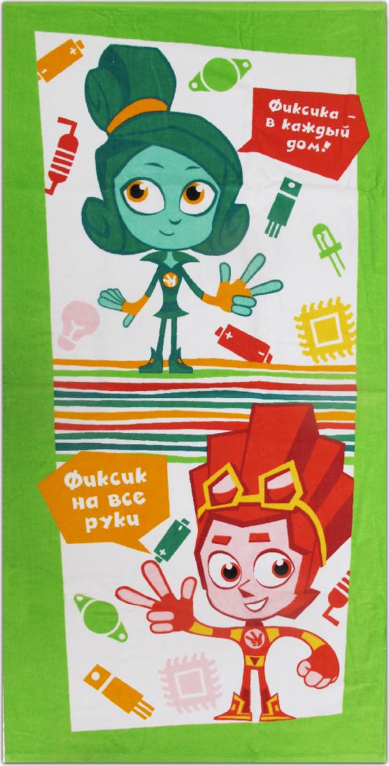Полотенце махровое Bravo Фиксики. Верта и Файер, цвет: зеленый, 60 х 120 см. м1076_03 M полотенце махровое bravo фиксики нолик цвет голубой 60 х 120 см м1079 01 m