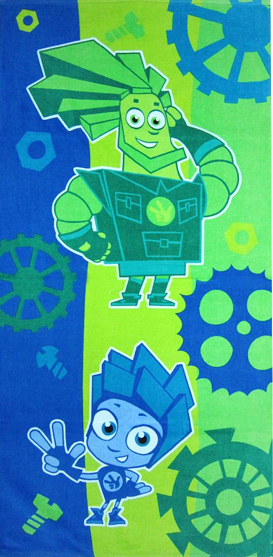 Полотенце махровое Bravo Фиксики. Нолик и Папус, цвет: зеленый, 60 х 120 см. м1078_03 M полотенце махровое bravo фиксики нолик цвет голубой 60 х 120 см м1079 01 m