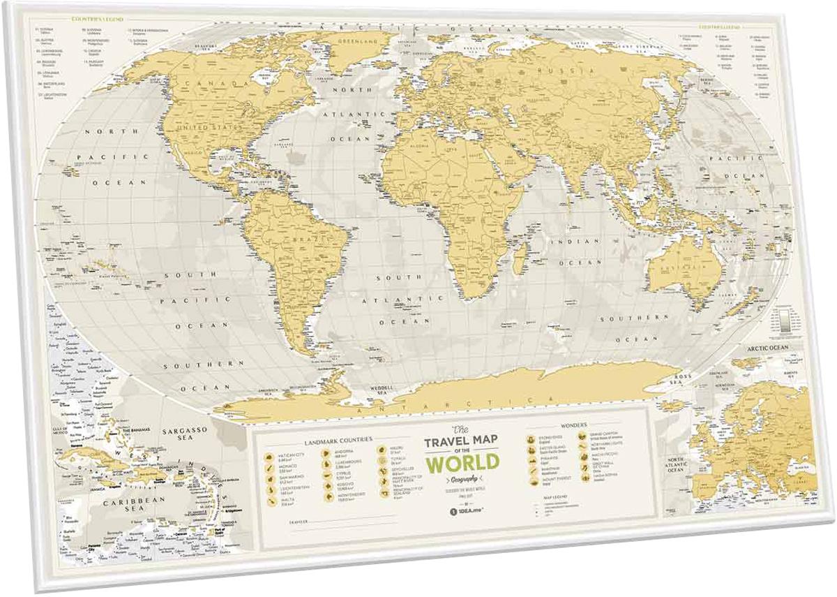 цены Cкретч карта мира 1DEA.me