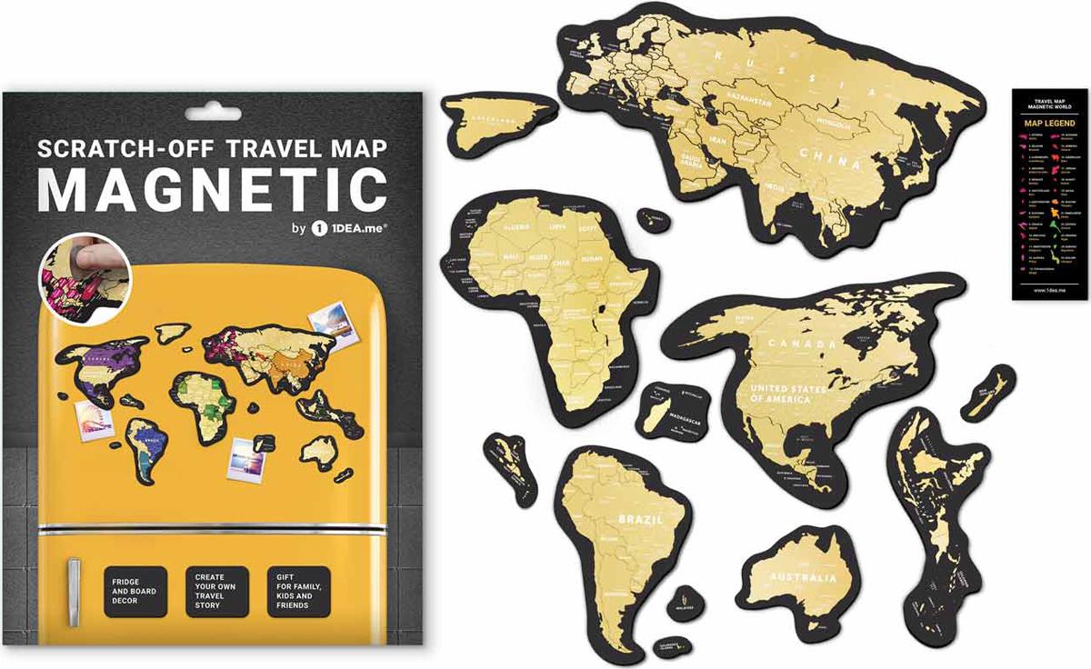 Скретч карта 1DEA.me Travel Map. Magnetic World, 21 х 29,7 см скретч карта мира travel map black world