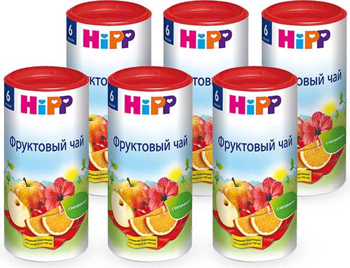 Hipp чай гранулированный фруктовый, с 6 месяцев, 6 шт по 200 г