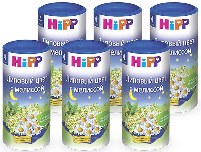 Hipp чай гранулированный липовый цвет с мелиссой, с 4 месяцев, 6 шт по 200 г hipp морковно рисовый отвар орс 200 с 4 мес