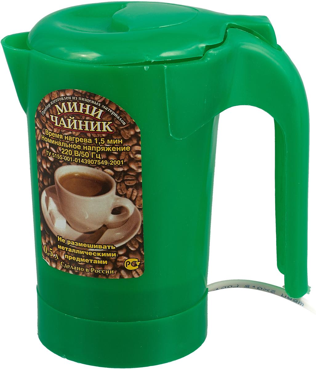 Электрический чайник Zimber ZM-1235, цвет: светло-зеленый цена и фото
