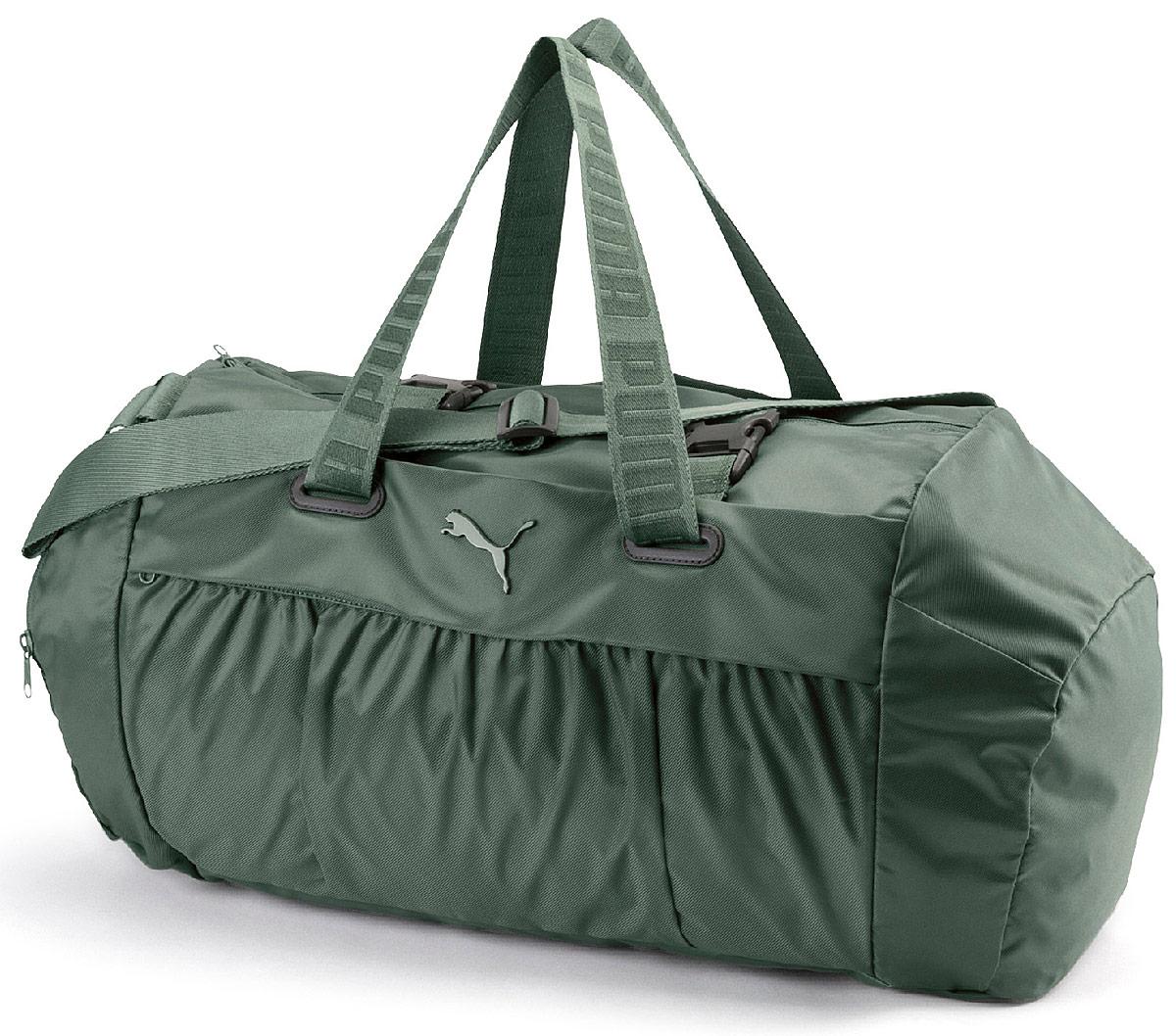 192060f80166 Сумка спортивная женская Puma AT Sports Duffle, цвет: зеленый. 07504806 —  купить в интернет-магазине OZON.ru с быстрой доставкой