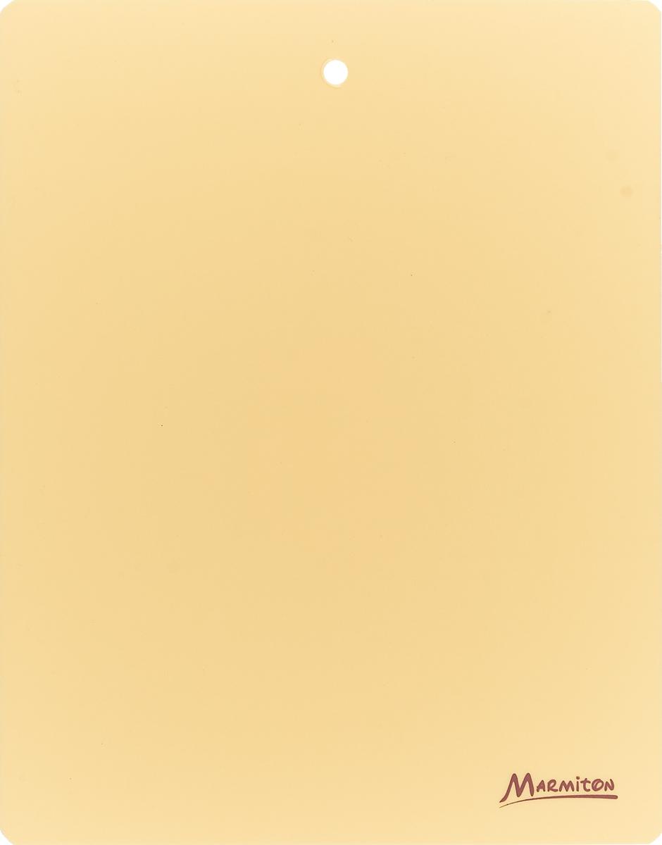 Доска разделочная Marmiton, гибкая, цвет: кремовый, 28 см х 22 см разделочная доска домашний сундук гибкая цвет красный синий 2 шт