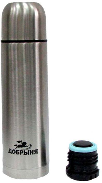 """Термос """"Добрыня"""", с 2 пробками, цвет: серебристый, 0,75 л"""