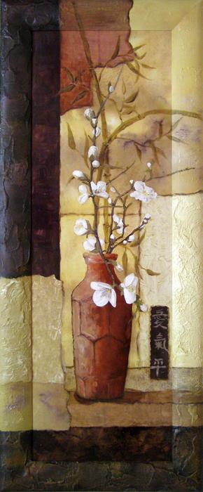 """Картина Dekart """"Цветы в вазе 2"""", 41,5 х 101,5 х 2 см"""