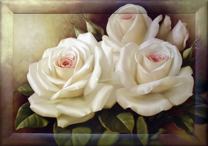 "Картина Dekart ""Нежные розы 2"", 65 х 100 х 2 см"