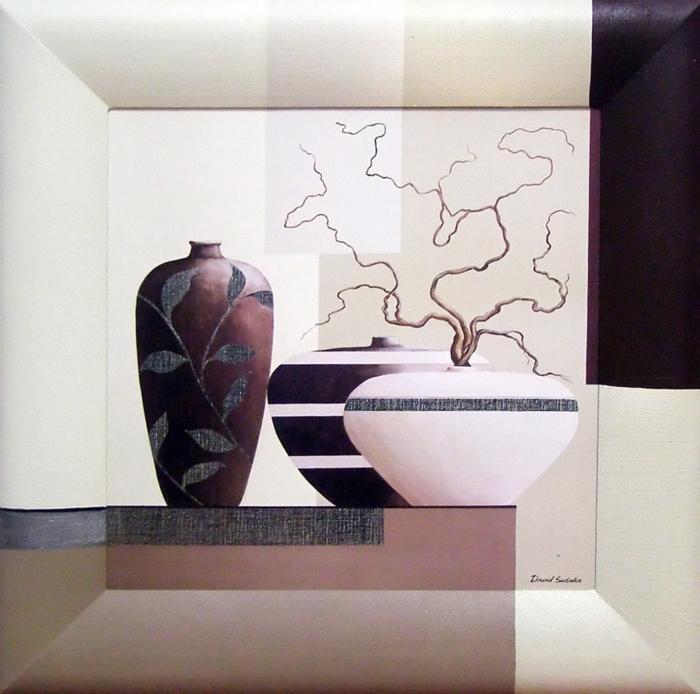 Картина Dekart Вазы 2, 41,5 х 41,5 х 3,5 см8Л0151Репродукции с дорисовкой на раме. Каждый Aрт по-своему уникален как результат мастерства и ручного труда художника по продолжению рисунка на раму из натурального дерева (ольха).