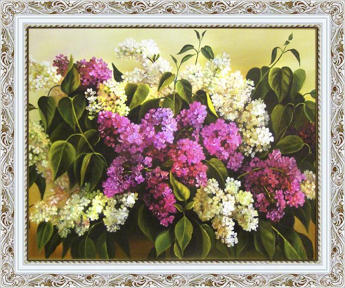 Картина Dekart Сирень, 62 х 82 х 3,5 см сирень картина верность 60 40 см
