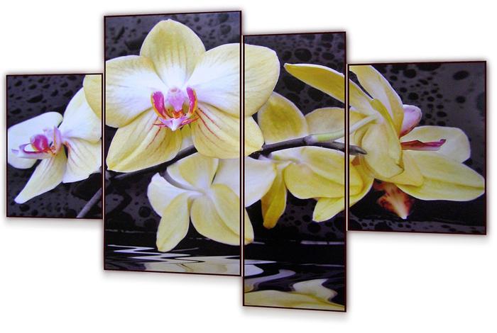 Картина модульная Dekart Желтая орхидея, 100 х 70 х 4 см модульные системы в графическом дизайне